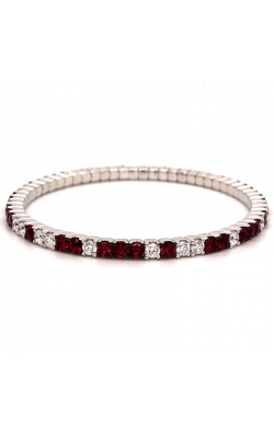 "Bigham Signature Diamond & Ruby ""Stretch"" Bracelet 386-112 RUB product image"
