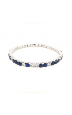 "Bigham Signature Diamond & Sapphire ""Stretch"" Bracelet 386-112 BSA product image"