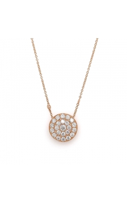 Bigham Signature Rose Gold Large Diamond Pendant product image