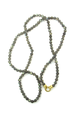 Elizabeth Locke Labradorite Bead Necklace With 'Francesca' Clasp N93224 product image