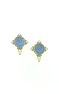 Elizabeth Locke Cerulean 'Dolphin Twins' And Pearl Earrings ER97196-L product image