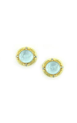 Elizabeth LockeLight Aqua 'Cabochon Goat, Lion & Putto' Earrings ER97204-V product image