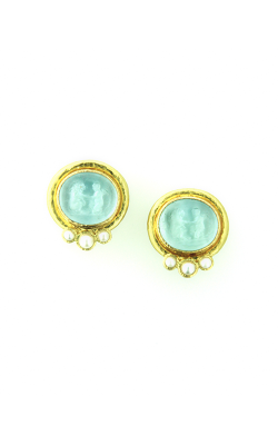 Elizabeth Locke Light Aqua 'Lion And Putto' Earrings ER79021-V product image
