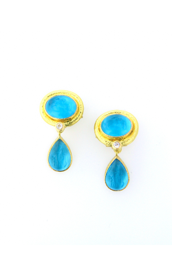 Elizabeth Locke Swimming Pool Blue 'Cab Equestrian' Drop Earrings ER84624-Q product image