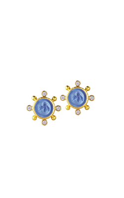 Elizabeth Locke Cerulean 'Tiny Bee' Stud Earrings ER91657-L product image