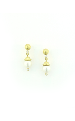 Elizabeth Locke White Pearl And Diamond Stud Earring ER97120 product image