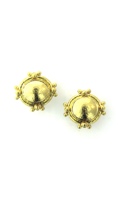 Elizabeth Locke Horizontal Oval Gold Earrings ER93840 product image