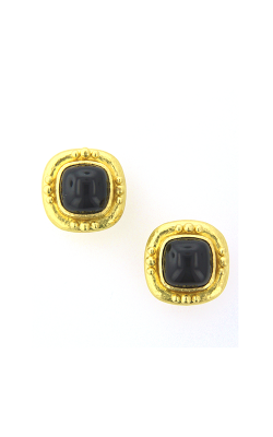 Elizabeth Locke Onyx Earrings 