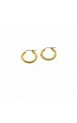 Elizabeth Locke Small Hammered Hoop Earrings ER1839 product image