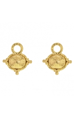 Elizabeth Locke Gold Oval Earring Pendants ERP93825 product image