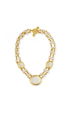 Elizabeth Locke Rock Crystal and Pearl Necklace N93872 product image