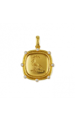 Elizabeth Locke Gold 'Dove with Branch' Pendant P87962 product image
