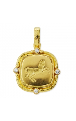 Elizabeth Locke Gold and Diamond 'Rearing Horse' Pendant P97209 product image