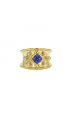Elizabeth Locke Blue Sapphire and Diamond Cigar Band R103702 product image