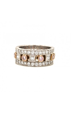 Pink & White Diamond Band By Jack Kelege product image