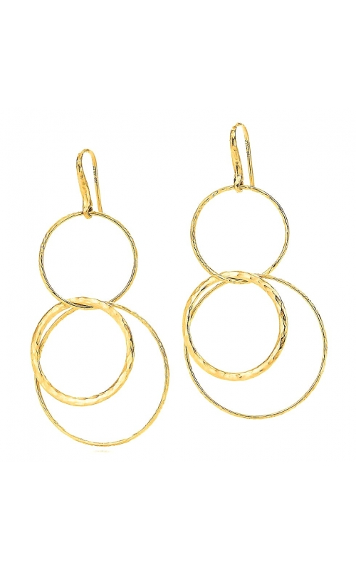 Tiffany & Co Picasso Gold Hammered Circles Drop Dangle Earrings.  product image