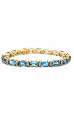 Blue Topaz And Diamond Bracelet   product image