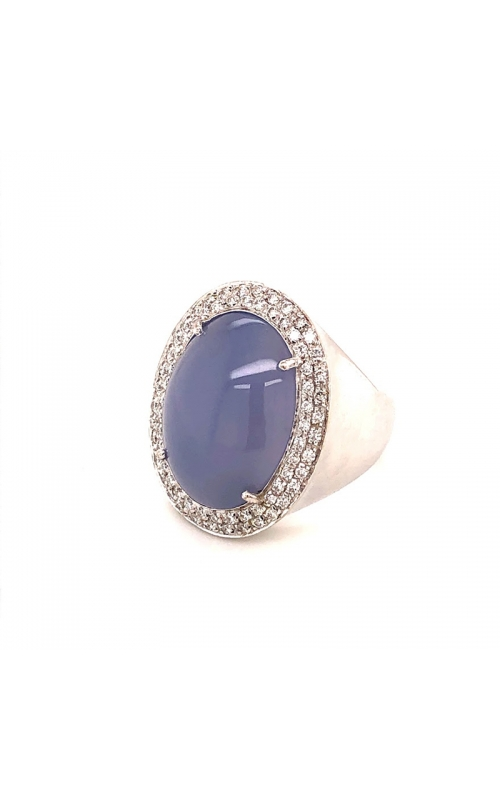 Lavender Chalcedony and Diamond Ring product image