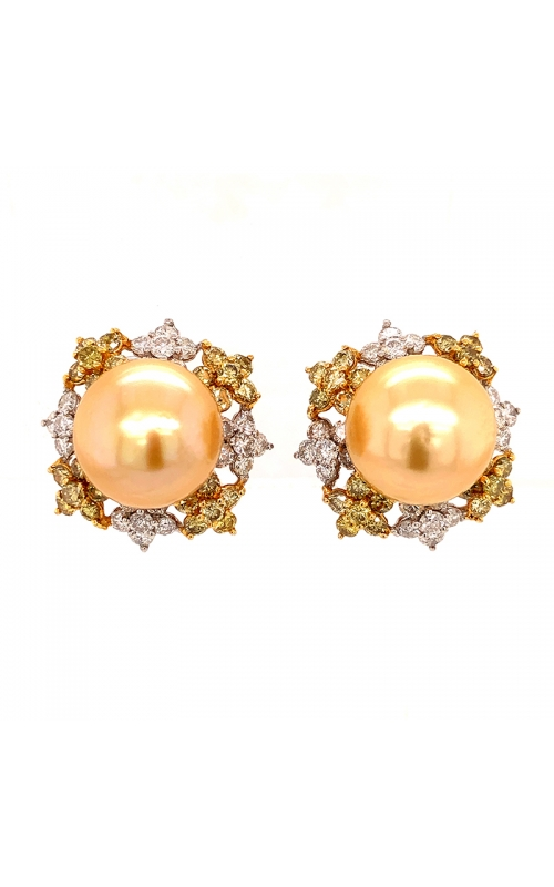 Golden Pearl Earrings product image
