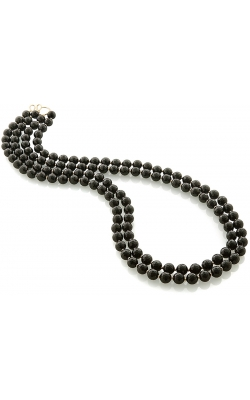 Goshwara 2 Strand Faceted Black Agate Balls Necklace With Rondelles product image