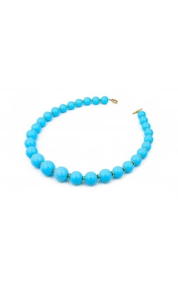 Goshwara Large Turquoise Bead Necklace #JN0225 product image