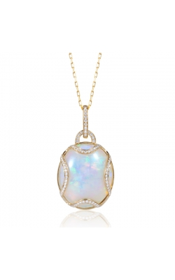 Goshwara Opal Pendant with Diamonds Necklace #JP0097-OP-Y product image