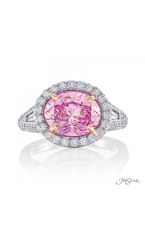 Padparadscha sapphire ring  product image