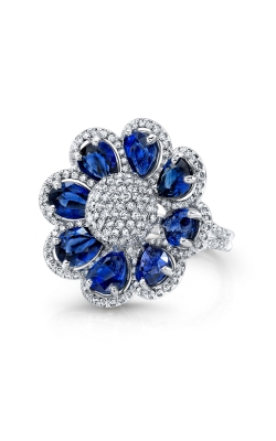 Diamond And Sapphire Ring F11791 product image