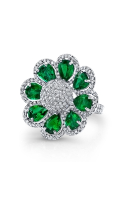 Diamond and Emerald Ring F11792 product image