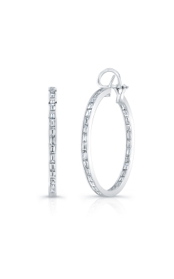 Diamond Hoop Earrings product image