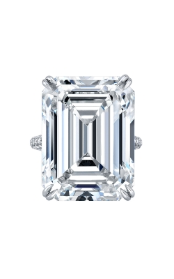 Emerald cut diamond ring F17627 product image