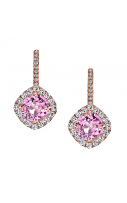 Omi Prive' Pink Sapphire and Diamond Earrings ES1156C-PSRD product image