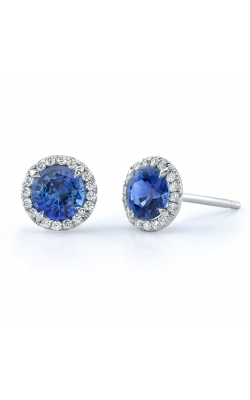 Omi Prive' Dore Sapphire and Diamond Earrings E1025 product image