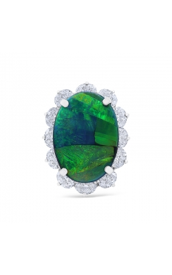 Oscar Heyman Black Opal & Diamond Ring 302981 product image