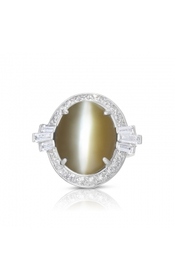 Oscar Heyman Cat's-Eye Chrysoberyl & Diamond Ring 301524 product image