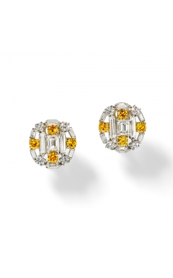 Oscar Heyman Fancy Yellow And White Diamond Earrings 705695 product image