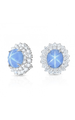 Oscar Heyman Star Sapphire &  Diamond Earrings 706341 product image