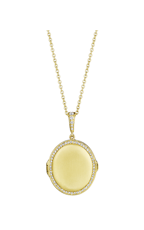 Penny Preville Oval Amulet Locket Necklace C4716G product image