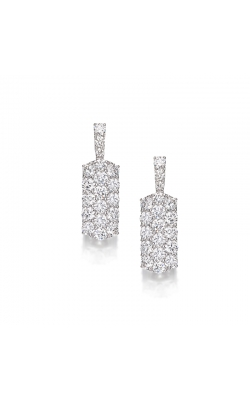 Bombé Round Diamond Wedding Day Earrings #E264 product image