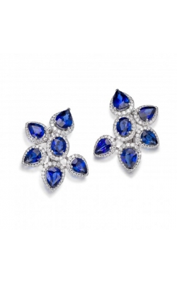 Crown Collection Sapphire Earrings #E287 product image