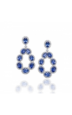 Timeless Crown Sapphire Earrings  product image