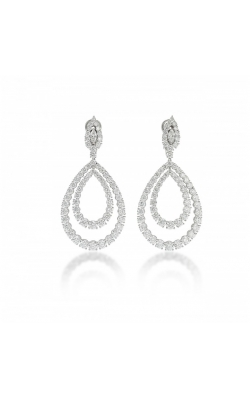 Forward-Facing Wedding Day Diamond Hoops - LARGE #E363 product image