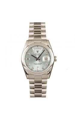 (Coming Soon) Pre-owned 36mm Platinum Day-Date #118206 Circa 2005 product image