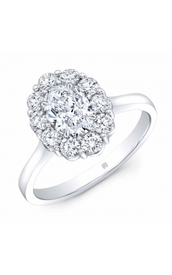 Oval Cluster Diamond Ring product image