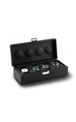 Valligetta 4 Watch Travel Case Black.  product image