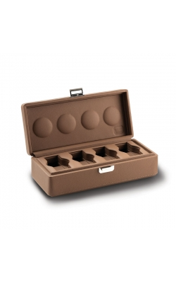 Valligetta 4 Watch Travel Case Chestnut.  product image
