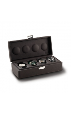 Valligetta 4 Watch Travel Case Chocolate.  product image