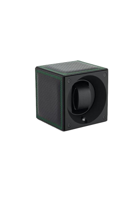 Masterbox Single Black Toledo Leather Green Edge & Stitches product image